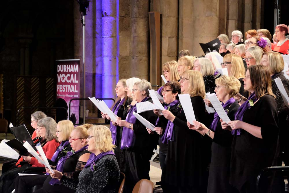 Durham Vocal Festival, Durham Cathedral, Unity Choir led by The Singing Elf