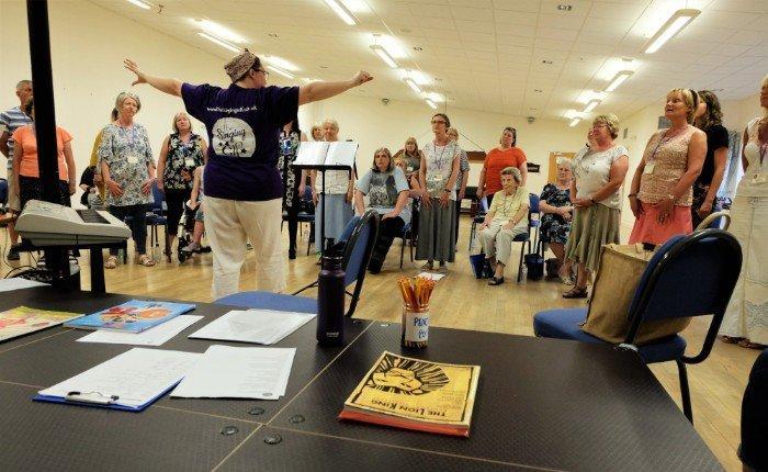 Unity Choir Rehearsal Singing Elf