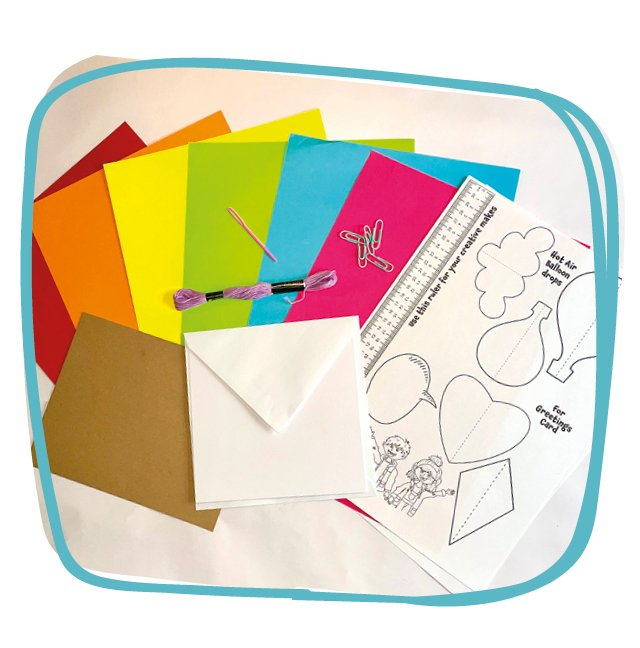 Rainbow Envelope Contents