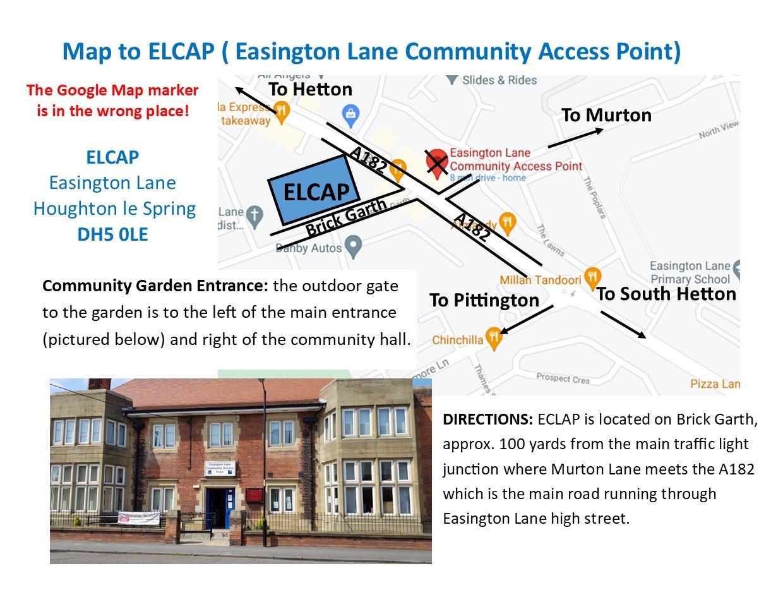 ELCAP Directions to Community Garden