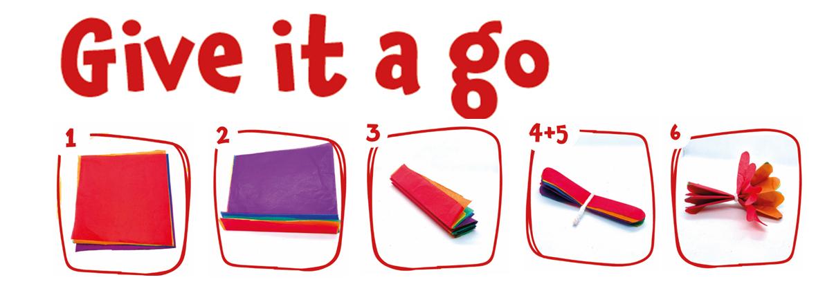 Tissue Paper Pom Poms Step by Step