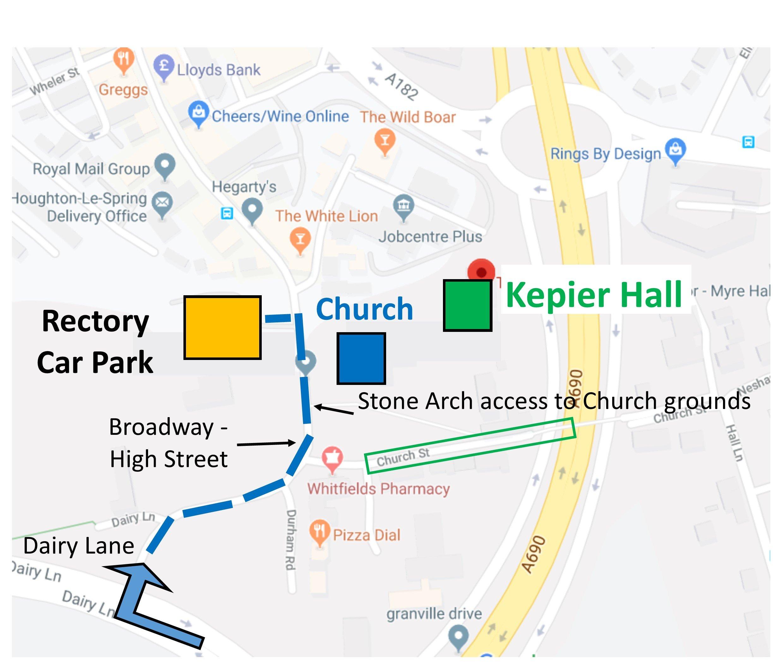 Kepier Hall Directions
